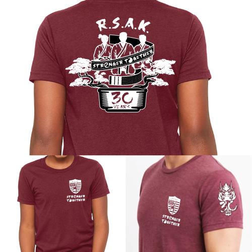 RSAK T Shirt 30 Year Anniv. - Maroon Triblend - $25.00 (no tax)